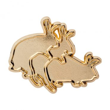 Ilegal Mezcal Merch - Ilegal Gold Humping Rabbits Pin