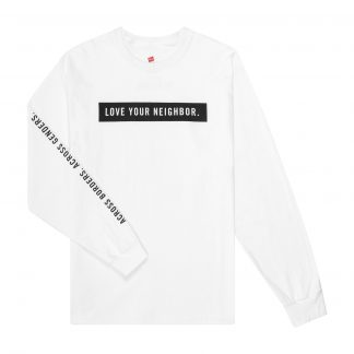 Ilegal Mezcal Merch - Love Your Neighbor White Long-sleeve T-Shirt Front