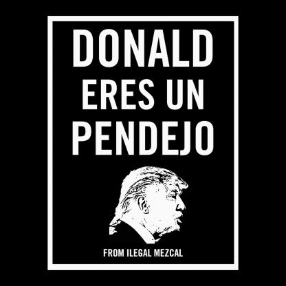 Ilegal Mezcal Merch - Donald Eres Un Pendejo Poster